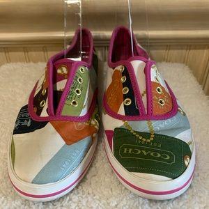 Vintage Coach Jewelry Print Tennis Shoes